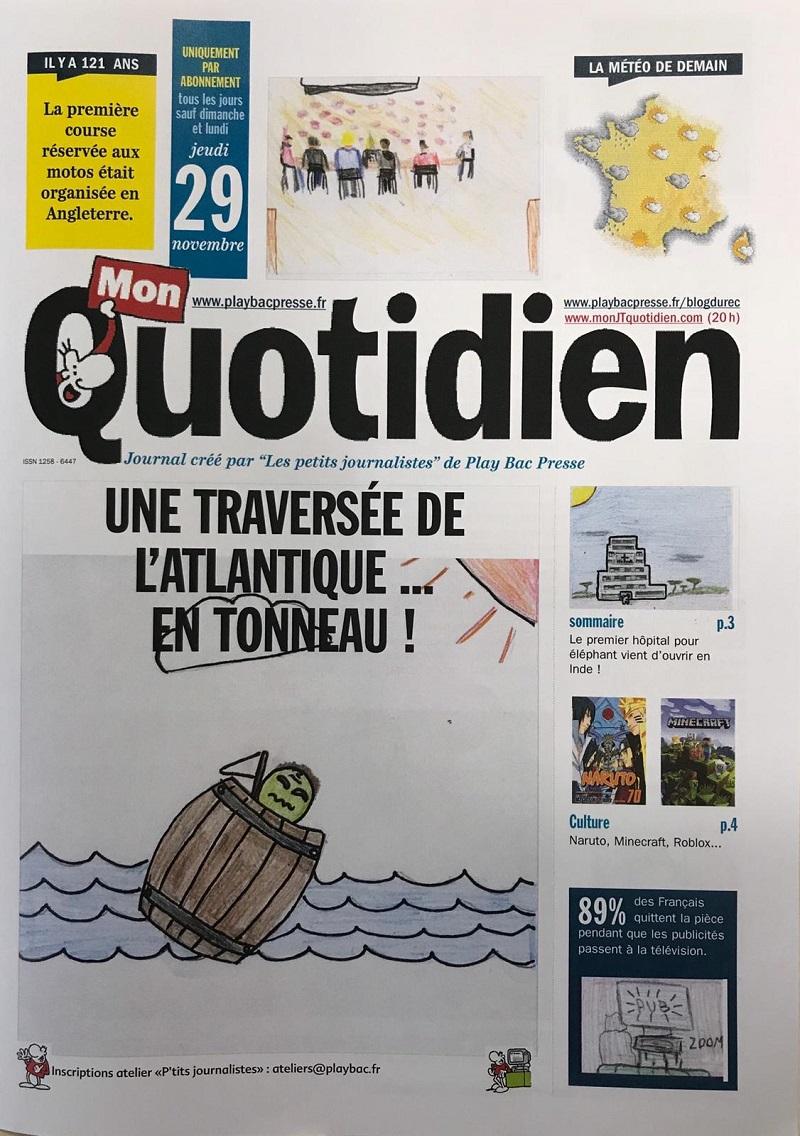 Nos Collegiens Redacteurs D Un Jour De Mon Quotidien Ecole Galilee